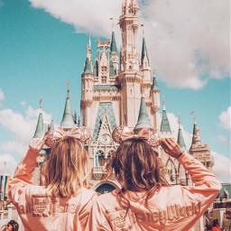disney disneyland castle disneycastle girls aesthetic aestheticpicture pinterest