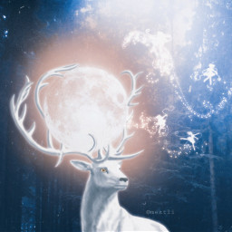 freetoedit fantasy deer moon magic