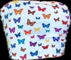freetoedit aesthetic tops tubetop latina shirt butterflies white softcore softgirl softgrunge softaesthetic girly