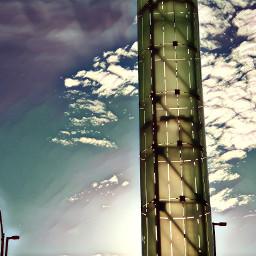 socal lax airport artinstallation pylons bluesky clouds art picoftheday
