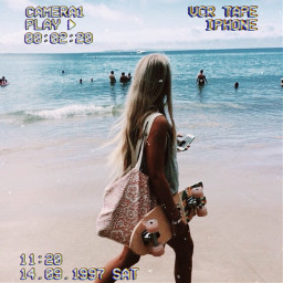 freetoedit beach skatergirl skate sea people summer aesthetic aestheticbeach beachvibes