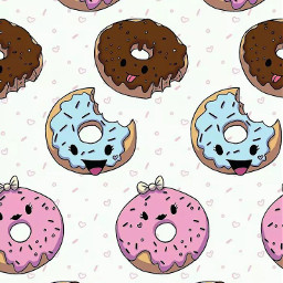 wallpaper background cute donuts🍩 backgroundforyou freetoedit donuts