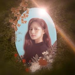 freetoedit tzuyu flower mirror picsart kpop twice twice_tzuyu_yellow_png3 rcfloralmirror floralmirror