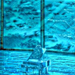 freetoedit madewithpicsart piano surreal night music fantasy glass windows clouds auditorium relaxing