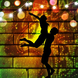 dancing celebration celebrate coupleinlove lights freetoedit