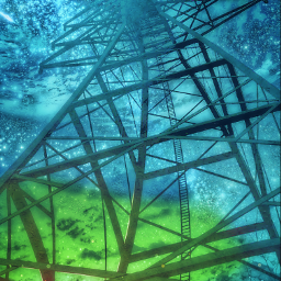 freetoedit pylon construction tower height sky night moon starrysky stars fullmoon blue ladder colourful peace quiet clouds lookatthesky electricity