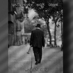 freetoedit blackandwhite monochrome loneliness oldman photomanipulation emotions editedbyme picsarttools art