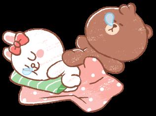 brown cony sleep freetoedit