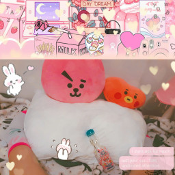 freetoedit agere littlespace headspace little cglre cute small girly soft stuffies child pink paci