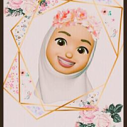 muslim hijab hijabgirl muslimgirl pastel flowers freetoedit srcpastelflowers pastelflowers