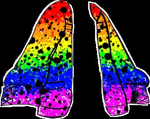 multicoloured lgbtq rainbowgachaoutfit jacket rainbow lgbtqgachaoutfit gachacluboutfit gachaoutfit freetoedit