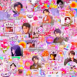 levi leviakerman kidcore anime attackontitan pink neon complex edit