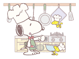 snoopy cooking freetoedit