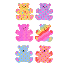indie nostalgia y2k 2000s kidcore retro alt hobicore aesthetic messy soft softcore tumblr 90s cute bear bears sticker vintage old flowers pattern freetoedit