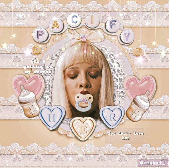 You guys have been liking my melanie edits recently so I thought I might do another one 💗👼🏼✨   𝙿𝚊𝚌𝚒𝚏𝚢 𝚑𝚎𝚛, 𝚜𝚑𝚎'𝚜 𝚐𝚎𝚝𝚝𝚒𝚗𝚐 𝚘𝚗 𝚖𝚢 𝚗𝚎𝚛𝚟𝚎𝚜. 𝚈𝚘𝚞 𝚍𝚘𝚗'𝚝 𝚕𝚘𝚟𝚎 𝚑𝚎𝚛, 𝚜𝚝𝚘𝚙 𝚕𝚢𝚒𝚗𝚐 𝚠𝚒𝚝𝚑 𝚝𝚑𝚘𝚜𝚎 𝚠𝚘𝚛𝚍𝚜...                #melaniemartinez #music #lyrics #crybaby  #pacifyher #pastel #pastelaesthetic #pastelyellow #crybabyalbum #melaniemartunezedit #melaniemartinetaesthetic #softcore #cuteaesthetic #kawaii #softaeshetic #vintagelook #vintageaesthetic #vintage