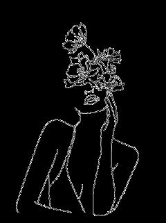 freetoedit tumblr desenho black preto draw woman nature