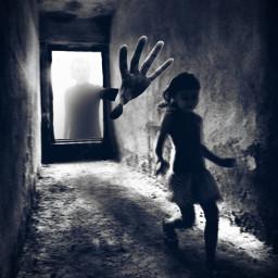 freetoedit nightmare creepy blackandwhite fear