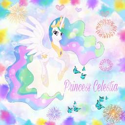 freetoedit mlp mlpedit mylittlepony princess princesscelestia celestia colourful pastel bright edit editedbyme