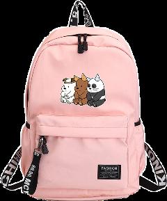 рюкзак медведи мимими webarebears три тримедведя розовый класс школа freetoedit