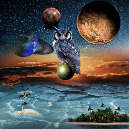 freetoedit surrealism fantasy island planet