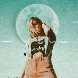aesthetic dust turquoise moon vintagestyle replay freetoedit