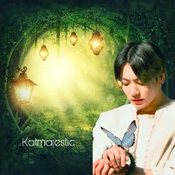 jungkook kpop bts happyjungkookday btsjungkook army green fairy butterfly
