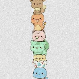 cute pokemons hope picatchu evaloin hihi happytaeminday