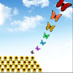 farfalle🦋 girasoli🌻 freetoedit farfalle girasoli