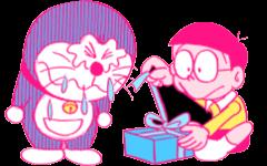 doraemon giftbox birthday freetoedit