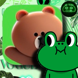app icon line linefriends leonard freetoedit