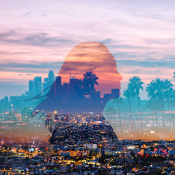 freetoedit dualexposure interesting la losangeles california city night music