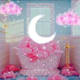 pink pinkaesthetic moon rose kawaii background glitter glittery glitters sparkle tumblr tumblraesthetic editedbyme myedit madewithpicsart papicks pngbyet clouds girly dreamy freetoedit