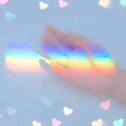 freetoedit remixit plzfollow freewallpaper cute rainbowaesthetic aesthetic hand hearts translucent girl blurred pretty