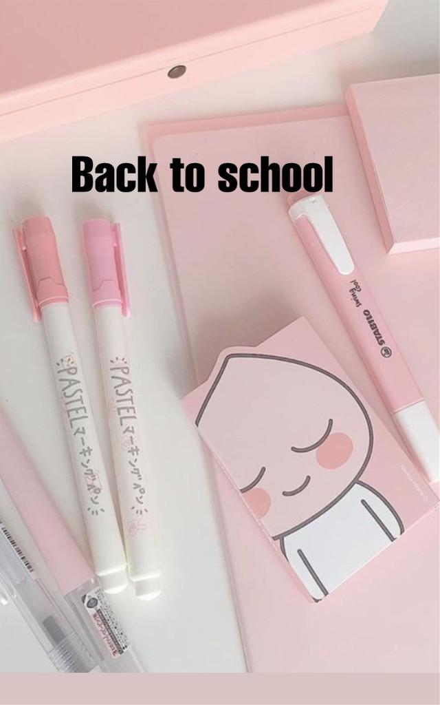 #backtoschool #pinkaesthetic #cute #school