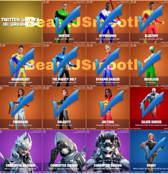 ALL THESE LEAKED SKINS CAMEOUT ALREADY 😱😃