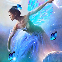 freetoedit girlgown dance disney wing srcneonwings