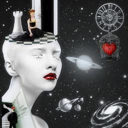 myedit artisticportrait beauty surreal byme undefined love blackandwhite freetoedit