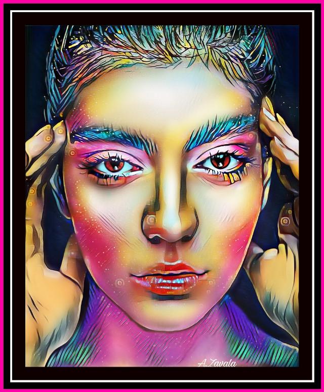 #artisticportrait #myedit #beauty #colorful #remixit #remixed #byme