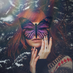 fte remixit remixme butterfly girl prismeffect dusteffect freetoedit unsplash