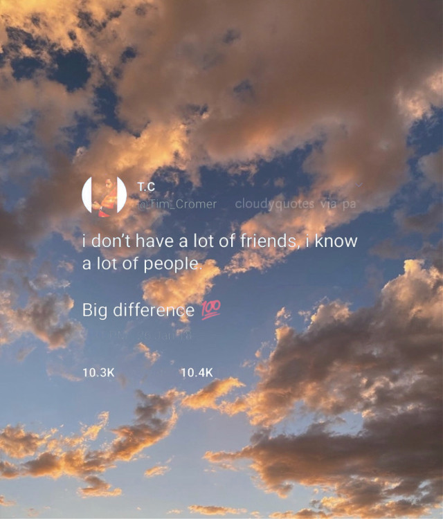 𝚉𝙾𝙴𝚈 𝙻𝚄𝙵𝙵𝚂 𝙲𝙷𝚄₊˚.༄ ☁️ᜊ🥽 。゚•┈୨♡୧┈•゚。  ꒰ ᝰ🔭 ꒱ 𝙳𝙰𝚃𝙴 :: 09/12/20 ꒰ 🧸ᝰ ꒱ 𝚆𝙴𝙰𝚃𝙷𝙴𝚁 :: ☁️✨ ꒰ ᝰ🛁 ꒱ 𝙼𝙾𝙾𝙳 :: 🥱 ꒰ 🧺ᝰ ꒱ 𝙵𝙲 :: 1,861 。゚•┈୨♡୧┈•゚。  ꒰ ᝰ🌧 ꒱ 𝙲𝙰𝙿𝚃𝙸𝙾𝙽 :: this is facts (maybe directed?). I do know a lot of ppl, but just because Ik a lot of ppl, doesn't make them my friends :/ ꒰ 🗒ᝰ ꒱ 𝙴𝙳𝙸𝚃 𝚃𝚈𝙿𝙴 :: tweet + photography ꒰ ᝰ⛲️ ꒱ 𝙲𝚁𝙴𝙳𝙸𝚃𝚂 :: whoever for the tweet and I think we heart it for the picture 。゚•┈୨♡୧┈•゚。  ꒰ 📎ᝰ ꒱ 𝙾𝚃𝙷𝙴𝚁 𝙰𝙲𝙲𝚂 :: @clqudfuhl and @woahclqudy ꒰ ᝰ🐰 ꒱ 𝚁𝙴𝙼𝙸𝙽𝙳𝙴𝚁𝚂 :: stay healthy, love yourself, stop the violence, show respect to everyone, be kind don't hate, don't judge others by the color of their skin, and all lives can't matter until black lives matter ꒰ 💦ᝰ ꒱ 𝙰𝙽𝙽𝙾𝚄𝙽𝙲𝙴𝙼𝙴𝙽𝚃𝚂 :: changed my pfp acc, working on a new theme soon! go check it out, there's a lil sneak peak. also pls look at my 9/11 posts from yesterday if u haven't already ꒰ ᝰ🗝 ꒱ 𝚂𝙷𝙾𝚄𝚃𝙾𝚄𝚃𝚂 ::  。゚•┈୨♡୧┈•゚。  ʚ say hi to my pet turtle Arnold 🐢 ɞ  ʚ Jade and Jibby can u feed him pls? ɞ  ˗ˏˋ 🍞 ˎˊ- ʚ Philip is Arnold's friend, don't forget to show him some love too! 🦕-_-_-_ ɞ ˗ˏˋ 🍞 ˎˊ- ʚ 🐢 + 🦕 ɞ 。゚•┈୨♡୧┈•゚。  ꒰ 🤍ᝰ ꒱ 𝙵𝙰𝙽 𝙰𝙲𝙲𝚂 𝙸𝙻𝚈𝙰𝚂𝙼 :: @cloudyquotesfan @fanof_cloudyquotes 。゚•┈୨♡୧┈•゚。  ꒰ ᝰ🖇 ꒱ 𝙸𝙱𝙵𝚂 ::  @catcof ♡ @fallingfor30minutes ♡ @galaxywolfdragon ♡ @_maya_hungergames713 ♡ @_cinnnamon ♡ @awhdisncy- ♡ @onecloudysky ♡ @jibbyedits ♡ @fqirycharli- ♡ @heheitsjade 💔 。゚•┈୨♡୧┈•゚。  ꒰ 🖐🏻ᝰ ꒱ 𝙰𝚁𝙽𝙾𝙻𝙳 𝙰𝙽𝙳 𝙿𝙷𝙸𝙻𝙻𝙸𝙿 𝚂𝚄𝙿𝙿𝙾𝚁𝚃𝙴𝚁𝚂 :: @heheitsjade @jibbyedits @fallingfor30minutes @gluten_free_memes @anusuya5_uwu @-ilqveyou @afenning5 @tcddybear @cosmic_peach_tea @aloha_hazza @julia_the_equestrian @well_damn_68 @plxtform9_3x4 @have_no_hopes @fluffnutella @hay1691 @shawnsmuffin_98 @kpop-blossom2468 @demonhufflepuff @imxgines @getoutofkitchen @clear_mxgic @so_zoe @kitty_3333 @_cinnnamon @tiny_kiri @i_crave_food2 @galaxywolfdragon @st_arz07 @madison_hengst @sophias44 @violalopilato @___anthea___ @kidear @ashleywalter212 。゚•┈୨♡୧┈•゚。  ꒰ ᝰ🥽 ꒱ 𝚃𝙰𝙶𝙻𝙸𝚂𝚃 ::  @fqirycharli- @kitkat_dead @jibbyedits @imxgines @well_damn_68 @gluten_free_meme