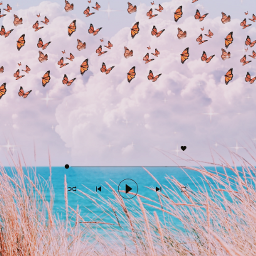 freetoeditedit freetoedit sticker butterfly cloud trending play start beach blend pink glitter picsart facebookpost
