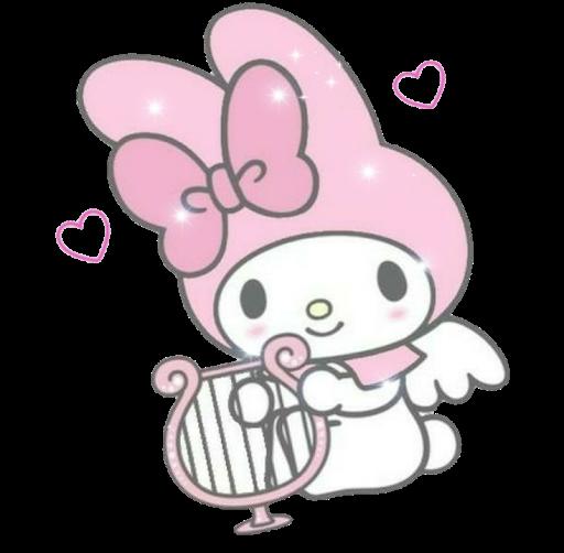 #sanrio #mymelody #melody #kuromi #hellokitty #bunny #rabbit #png #overlay #cute #alt #aesthetic #pastel #pink #cinnamoroll #cartoon #animation #anime #character #harp #heart #bow #ribbon #drawing #overlays