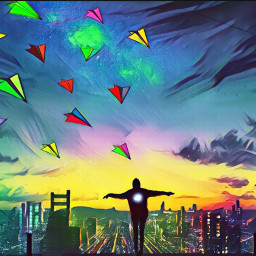freetoedit srccolorfulpaperplanes colorfulpaperplanes