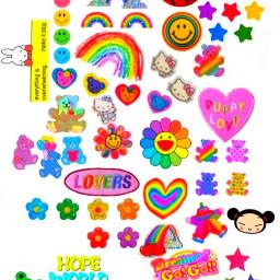 hobicore stickers rainbow editstickers bts kpop hoseok altcore cutecore kidcore rainbowcore cutestickers edits fyp tiktok