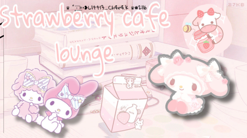 New server im working on itll be on disboard soon :) #strawberry #cafe #lounge
