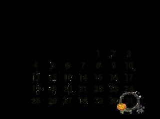october calendar octobercalendar halloween freetoedit