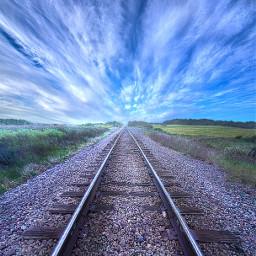 freetoedit remixit travel traintracks railway railroadtracks follow trending fanart nature hdriphoneographer hdr