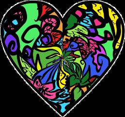 sticker heart trippy trippyheart tiedye heatsticker trippyart freetoedit