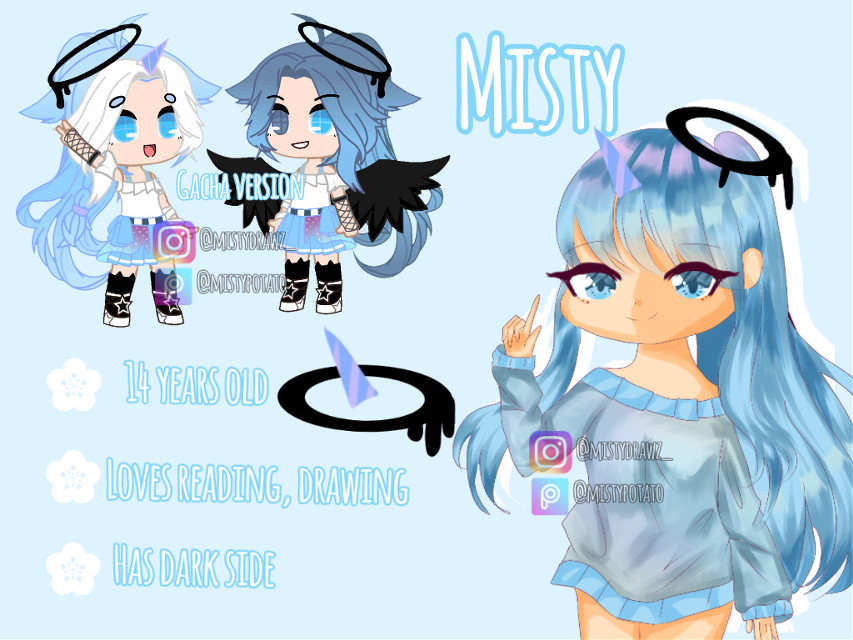 Hippy hoppity yes Reference sheet 👌👁👄👁🌸🍒🎀🌈🍩 I revealed Misty's dArK siDe *casually plays the SONG dark side* Mk here you go :> #referencesheet #oc ♡Find me♡ ╭──❥ DISCORD SERVER >< https://discord.gg/bxrHCD8 ╭──❥ DISCORD♡ mistypotato #2152  (Please DM me who you are) ╭──❥ IG♡ mistypotato_ ╭──❥ YT♡ Misty Potato  ╭──❥ PICSART♡ You are here! ╭──❥ ROBLOX♡ Sofia_unicorn1254 (you can join me even if you just follow)  ╭──❥ ZEPETO♡ (Only DM me) ※Anyone else is not me, please tell me if someone is impersonating or stealing my artwork, or hating on me, I will yeet them off to the North Pole※  ╭──❥ FOLLOWER NAME? Potato lovers (Even if you hate potatoes I'm just a potato so...xD) TAGLIST? To be added DM/comment ❤ To be removed DM/comment 💔 If you had a username change DM/comment me your old user that is on the taglist ※If you want to be removed from random tags feel free to DM me or comment if you have them  ╭──❥I post every 1~2 days! ╭──❥Edit requests and commisions: Closed! ╭──❥I reply to most/all comments ╭──❥I draw my own bases and I don't use gacha anymore for drawing   ╭──❥ Lovely potatoes♡ @iiwhite_rose @white_lavender @yoongi_supportbot @rose_wxter @cassietheeditor @its-bobby-sally @0_dark-green_0 @rainsoar @sapphire_artz @ailita248 @aikochanuwu16 @-mxxnlixght- @-wintxr_angxl- @nabe127 @kk_playsgames12 @xxbirthdaycakebobaxx @-_-r0se_f0x-_- @_miss_sushi_ @compliment_sunshine @xxgachapiexx @lazymeh4 @lovelyloaf @johnnygreenaway @darkgacha_lover @xxyami_no_tenshixx @anime_editss_ @believingtomato @-mina-ashido- @sophies_cat @little_p0tato    ╭──❥ Random taggies: @springu_707_uwu @_stxrryyxlit @its_taya_ @silkq @goldeliciuos @alethedevilangel @rainbow-fluffy (sorry if u didnt want to be tagged)