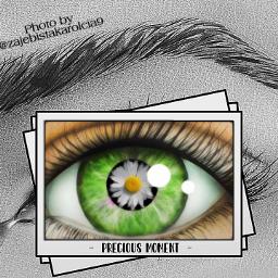 freetoedit tears green_eye eye eyebrows whiteflower🌼 flower frame frameaesthetic aesthetic preciousmoment whiteflower